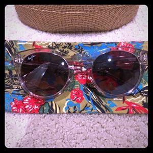 Maui Jim clear frame Polarized Sunglasses